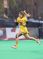 College Park, MD - April 19, 2018: Maryland Terrapins Lizzie Colson (25) in action during game between Penn St. and Maryland at  Field Hockey and Lacrosse Complex in College Park, MD.  (Photo by Elliott Brown/Media Images International)