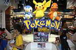 """May 9, 2010 - Tokyo, Japan - Pokemon game characters of Japanese video game manufacturer Nintendo are on display at the official Pokemon store in Tokyo on May 9, 2010. Nintendo recently announced that the DS handheld device had become the best selling gaming handheld of all time, with a total of 129 million units sold. The DS 'family' have surpassed the """"Game Boy"""" series which hit 118 million over two decades."""