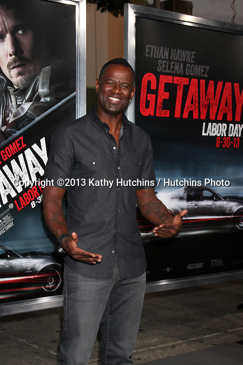"LOS ANGELES - AUG 26:  Brian McKnight at the ""Getaway"" Premiere at the Village Theater on August 26, 2013 in Westwood, CA"