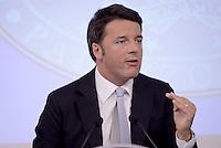 Roma, 15 Ottobre 2015<br /> Matteo Renzi <br /> Conferenza stampa a Palazzo Chigi al termine del Consiglio dei Ministri n°87