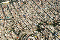 A working class neighbourhood near the highly exclusive Santa Fe area, Aerial shots of Mexico City