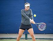 June 13th 2017, Nottingham, England; WTA Aegon Nottingham Open Tennis Tournament day 4;  Backhand from Lauren Davis of USA