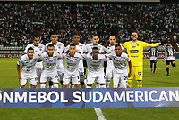 MANIZALES - COLOMBIA, 21-02-2019: Jugadores de Once posan para una foto previo al encuentro por la fecha 3 de la Liga Águila I 2019 entre Once Caldas de Colombia y Deportivo Santiní de Paraguay jugado en el estadio Palogrande de la ciudad de Manizalez. / Players of Once pose to a photo prior the match for the first phase, key 9, as part of Copa CONMEBOL Sudamericana 2019 between Once Caldas of Colombia and Deportivo Santini of Paraguay played at the Palogrande stadium in Manizales city. Photo: VizzorImage / Santiago Osorio / Cont