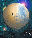 Image illustrates the study, plant, star satellite.