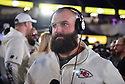 MIAMI, FL - JANUARY 27: Kansas City Chiefs Fullback Anthony Sherman (#42) answers questions from the media during the NFL Super Bowl ( LIV)(54) Opening Night at Marlins Park on January 27, 2020  in Miami, Florida. ( Photo by Johnny Louis / jlnphotography.com )