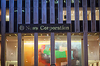 "The News Corp. headquarters in Midtown Manhattan in New York on Tuesday, January 20, 2015. The city of Paris announced that it plans to sue Fox News over the reporting of ""no-go zones"" within Paris where both the police and non-muslims do not dare to tread. Fox retracted with an on-air apology over the report, that said parts of Paris and Birmingham, England were ruled by Shariah law.  (© Richard B. Levine)"