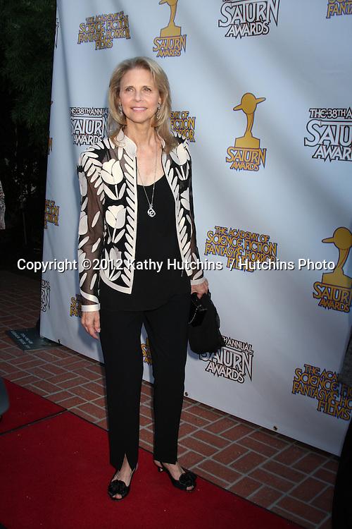 LOS ANGELES - JUL 26:  Lindsay Wagner arrives at the 2012 Saturn Awards at Castaways on July 26, 2012 in Burbank, CA