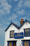 Old Neptune pub and blue sky, Witstable, Kent, England