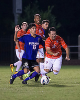The number 24 ranked Furman Paladins took on the number 20 ranked Clemson Tigers in an inter-conference game at Clemson's Riggs Field.  Furman defeated Clemson 2-1.  Thalse De Mello Moreno (13), Alexandra Rome'o Happi (15), Marco Ortiz (13)