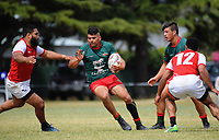 Wairarapa Bush v Poverty Bay men. 2017 Bayleys Central Regional Sevens at Playford Park in Levin, New Zealand on Saturday, 9 December 2017. Photo: Dave Lintott / lintottphoto.co.nz
