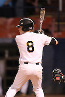 Western Michigan Broncos Andrew Sohn #8 at bat during a game against the Illinois State Redbirds at Chain of Lakes Stadium on March 10, 2012 in Winter Haven, Florida.  Illinois State defeated Western Michigan 10-9.  (Mike Janes/Four Seam Images)