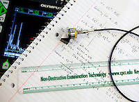 Central Piedmont Community College (CPCC) offers courses in non-destructive examination technology. The program trains students in examination of aging infrastructures, petrochemicals, and power generation facilities. Non-destructive examination examines materials without damaging the intended usefulness of the component. NDE is applied when creating new materials.