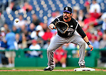 22 April 2010: Colorado Rockies' first baseman Todd Helton in action against the Washington Nationals at Nationals Park in Washington, DC. The Rockies shut out the Nationals 2-0 gaining a 2-2 series split. Mandatory Credit: Ed Wolfstein Photo