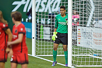 Portland, OR - Saturday, May 21, 2016: Portland Thorns FC goalkeeper Adrianna Franch (24). The Portland Thorns FC defeated the Washington Spirit 4-1 during a regular season National Women's Soccer League (NWSL) match at Providence Park.