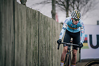 Thibau Nys (BEL)<br /> <br /> Men&rsquo;s Junior race<br /> <br /> UCI 2019 Cyclocross World Championships<br /> Bogense / Denmark<br /> <br /> &copy;kramon