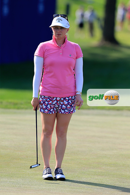 Morgan Pressel (USA) on the 18th green during Sunday's Final Round of the 2015 KPMG Women's PGA Championship held at Westchester Country Club, Harrison, New York, USA. 6/14/2015.<br /> Picture &copy; Golffile/Eoin Clarke