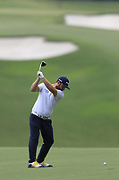 Andy Sullivan (ENG) plays his 2nd shot on the 15th hole during Friday's Round 2 of the 2017 PGA Championship held at Quail Hollow Golf Club, Charlotte, North Carolina, USA. 11th August 2017.<br /> Picture: Eoin Clarke | Golffile<br /> <br /> <br /> All photos usage must carry mandatory copyright credit (&copy; Golffile | Eoin Clarke)