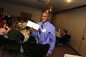 The Hyde Park Chamber of Commerce held its 75th Annual Chamber Dinner this past Thursday. The event was held at Rodfei Zedek located at 5200 S. Harper.<br /> <br /> 8875 &ndash; Harold Smith of the Hyatt Hotel accepted his raffle prize.