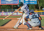 30 July 2016: Vermont Lake Monsters catcher Nick Collins in action against the Brooklyn Cyclones at Centennial Field in Burlington, Vermont. The Lake Monsters defeated the Cyclones 7-1 in NY Penn League play. Mandatory Credit: Ed Wolfstein Photo *** RAW (NEF) Image File Available ***