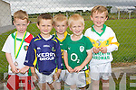 FUN: Having great fun at Lá na Club, Kilmoyley at Páirc Naomh Erc,.Lerrig, on Sunday L-r: Darragh Corridon, Jevon Carey, Connie.Horgan,Oisin Kearney and Tomas Godley.