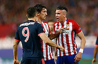 Atletico Madrid´s Saul and Bayer Munich´s Lewandowski