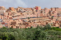 Boulmane, Morocco.  Commercial Shops under Arches.