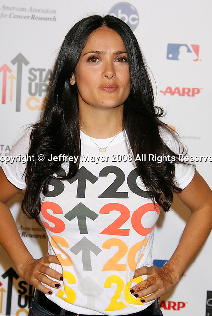 HOLLYWOOD, CA. - September 05: Actress Salma Hayek arrives at Stand Up For Cancer at The Kodak Theatre on September 5, 2008 in Hollywood, California.