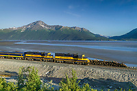 Alaska Railroad along the Turnagain Arm, southcentral, Alaska
