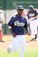Luis Durango, San Diego Padres 2010 minor league spring training..Photo by:  Bill Mitchell/Four Seam Images.