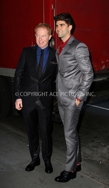 WWW.ACEPIXS.COM....April 17 2013, New York City....Jesse Tyler Ferguson, Justin Mikita arriving at the HRC Marriage for Equality USA celebration at the Calvin Klein Boutique on April 17, 2013 in New York City. ....By Line: Zelig Shaul/ACE Pictures......ACE Pictures, Inc...tel: 646 769 0430..Email: info@acepixs.com..www.acepixs.com