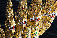 Ananta Naganaj figurehead at the Royal Barge Museum in Bangkok, Thailand