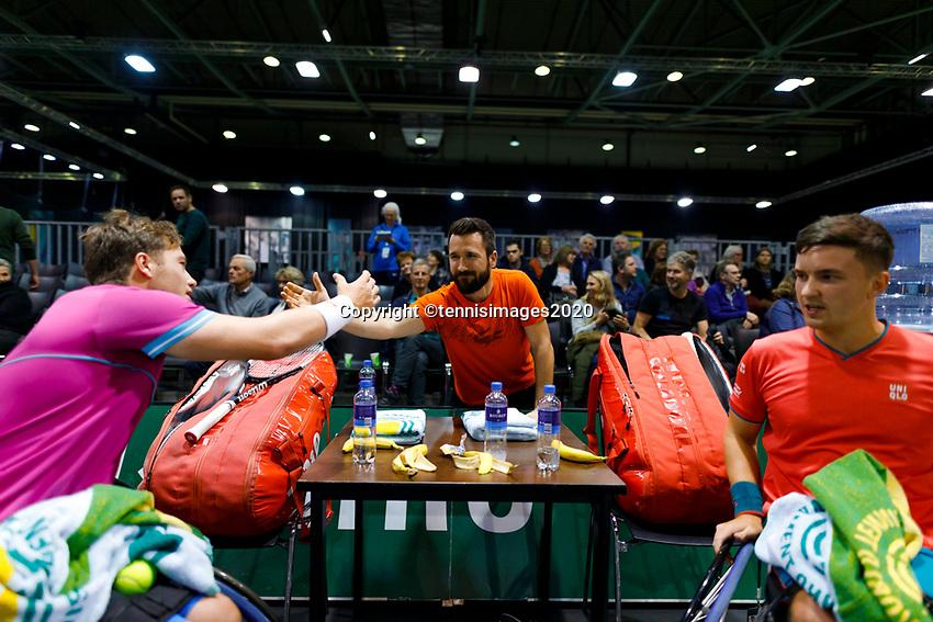 Rotterdam, The Netherlands, 14 Februari 2020, ABNAMRO World Tennis Tournament, Ahoy, <br /> Wheelchair Doubles: Alfie Hewett (GBR) and Gordon Reid (GBR).<br /> Photo: www.tennisimages.com