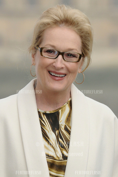 "Meryl Streep unveils the poster for her new Margaret Thatcher film ""The Iron Lady"" in Westminster, London. 14/11/2011 Picture by: Steve Vas / Featureflash"