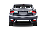 Straight rear view of 2017 Acura ilx Tech Plus and A Spec Package 4 Door Sedan stock images