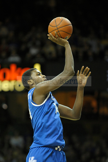 UK's forward Michael Kidd-Gilchrist takes a shot during the second half of the University of Kentucky men's basketball game against Vanderbilt at Memorial Gym in Nashville, Tennessee., on Feb. 11, 2012. UK won 69-63. Photo by Mike Weaver | Staff