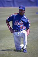 New York Mets Mark Carreon during spring training circa 1990 at Tradition Field in Port St. Lucie, Florida.  (MJA/Four Seam Images)