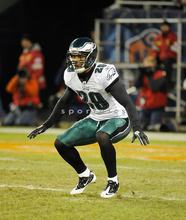 NATE ALLEN, of the Philadelphia Eagles in action durIng the Eagles game against the Chicago Bears at Soldier Field in Chicago, IL on November 28, 2010...Bears beat the Eagles 31-26.