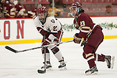 Karly Heffernan (Harvard - 27), Andie Anastos (BC - 23) - The visiting Boston College Eagles defeated the Harvard University Crimson 2-0 on Tuesday, January 19, 2016, at Bright-Landry Hockey Center in Boston, Massachusetts.