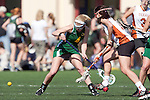 Santa Barbara, CA 02/13/10 - Laura Spanko (Oregon #4) and Alina Daszkowski (Texas #8) in action during the Texas-Oregon game at the 2010 Santa Barbara Shoutout, Texas defeated Oregon 11-9.