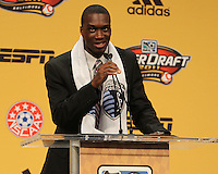 C.J. Sapong at the 2011 MLS Superdraft, in Baltimore, Maryland on January 13, 2010.