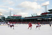 Jake McLaughlin (UMass - 28), Bobo Carpenter (BU - 14), Kurt Keats (UMass - 17) - The Boston University Terriers defeated the University of Massachusetts Minutemen 5-3 on Sunday, January 8, 2017, at Fenway Park in Boston, Massachusetts.The Boston University Terriers defeated the University of Massachusetts Minutemen 5-3 on Sunday, January 8, 2017, at Fenway Park.