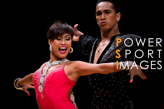 Gerald Jamili and Cherry Clarice Parcon of Philippines during the WDSF GrandSlam Latin on the Day 1 of the WDSF GrandSlam Hong Kong 2014 on May 31, 2014 at the Queen Elizabeth Stadium Arena in Hong Kong, China. Photo by AItor Alcalde / Power Sport Images