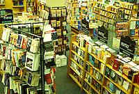 bookstore, Borders Bookstore, Burlington, Vermont, Interior of Borders Books in Burlington.