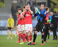 Fleetwood Town's Paddy Madden, left, and Fleetwood Town's Alex Cairns applaud the fans at the final whistle<br /> <br /> Photographer Chris Vaughan/CameraSport<br /> <br /> The EFL Sky Bet League One - Saturday 23rd February 2019 - Burton Albion v Fleetwood Town - Pirelli Stadium - Burton upon Trent<br /> <br /> World Copyright © 2019 CameraSport. All rights reserved. 43 Linden Ave. Countesthorpe. Leicester. England. LE8 5PG - Tel: +44 (0) 116 277 4147 - admin@camerasport.com - www.camerasport.com