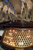 St. Patrick's Cathedral on Fifth Avenue in New York on Tuesday, September 15, 2015. Pope Francis, the Holy Father, will pray at the Vespers Service in the Cathedral on Sept. 24th during his U.S. visit. In New York he will visit Central Park and lead a mass at Madison Square Garden. The Pope will be in the U.S. from Sept. 22 visiting Washington DC, New York and Philadelphia.  (© Richard B. Levine)