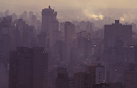 Air pollution, smoke and reinforced concrete in São Paulo, Brazil.