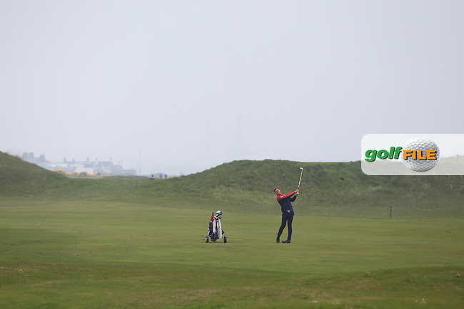 Christian Braeunig (GER) on the 3rd fairway during Round 3 of the Flogas Irish Amateur Open Championship at Royal Dublin on Saturday 7th May 2016.<br /> Picture:  Thos Caffrey / www.golffile.ie
