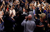 Associate Justice of the Supreme Court-designate Brett Kavanaugh smiles as he takes his seat in front of photographers and the committee at the start of his U.S. Senate Judiciary Committee confirmation hearing on Capitol Hill in Washington, U.S., September 4, 2018. <br /> Credit: Jim Bourg / Pool via CNP