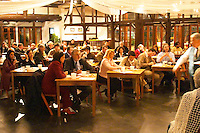 Many of Uruguay's wine producers present at the big tasting and discussion of Uruguayan wines. Montevideo, Uruguay, South America