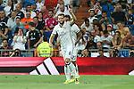 Real Madrid's Nacho the XXXVII Bernabeu trophy between Real Madrid and Stade de Reims at the Santiago Bernabeu Stadium. August 15, 2016. (ALTERPHOTOS/Rodrigo Jimenez)